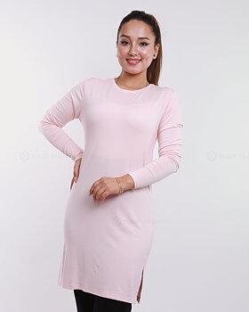 Basic långärmad tröja - Puderrosa