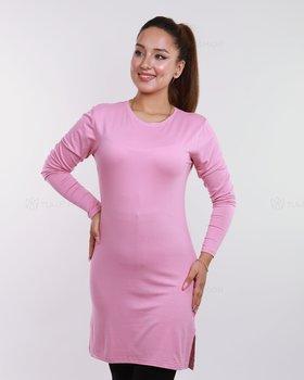Basic långärmad tröja - Rosa