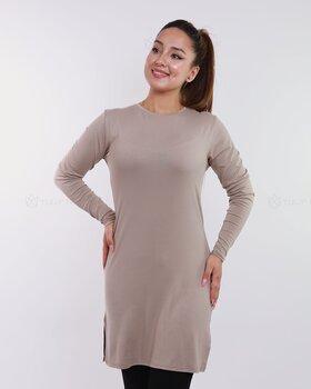 Basic långärmad tröja - Nude