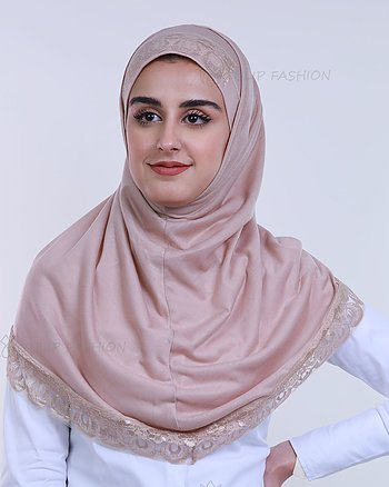 Hijab Al Amira Decorated - Beige