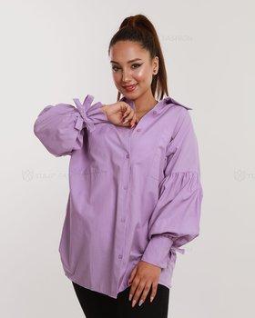 Skjorta med ballongärmar - Lila