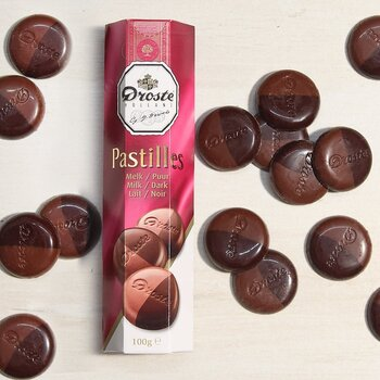 DROSTE Milk and Dark Chocolate Pastilles