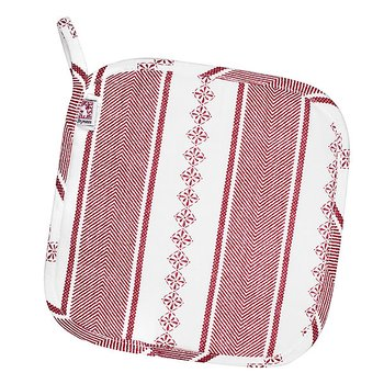 Shyness Potholder Bolster White/Red