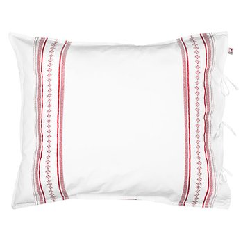 Shyness Pillow Case Bolster Red/White