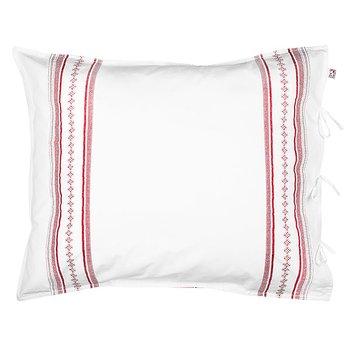 Pillow Case Bolster Red/White