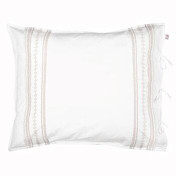 Pillow Case Bolster Sand/White