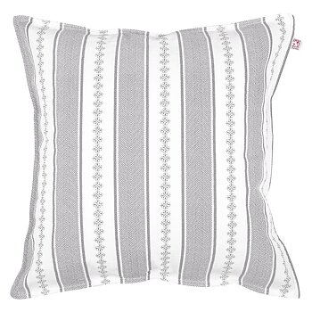 Shyness Cushion Bolster White/Grey