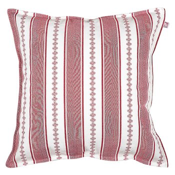 Shyness Cushion Bolster White/Red
