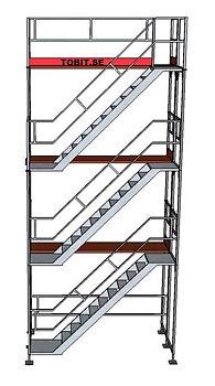 Trapptorn 3 våningar till ramställning