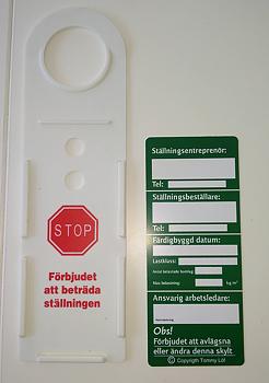 Ställningsskylt / Grönskylt.