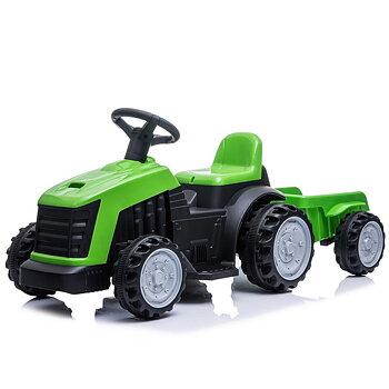 El-Traktor med släp