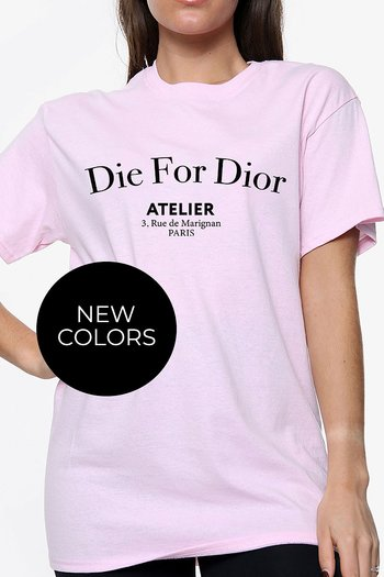 DIE FOR DIOR COTTON T-SHIRT LIGHT PINK