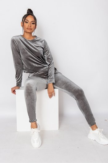 VELVET LOUNGESET GREY