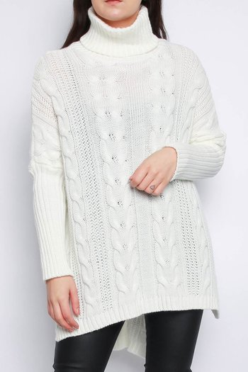 VANJA CABEL KNITTED JUMPER IVORY