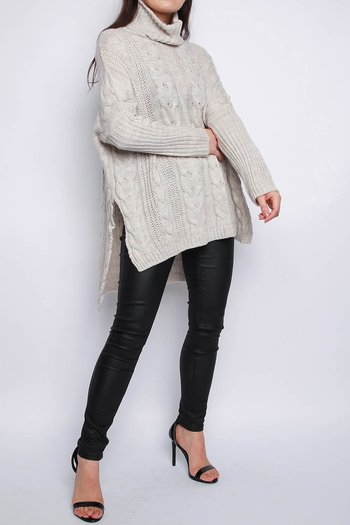 VANJA CABEL KNITTED JUMPER BEIGE
