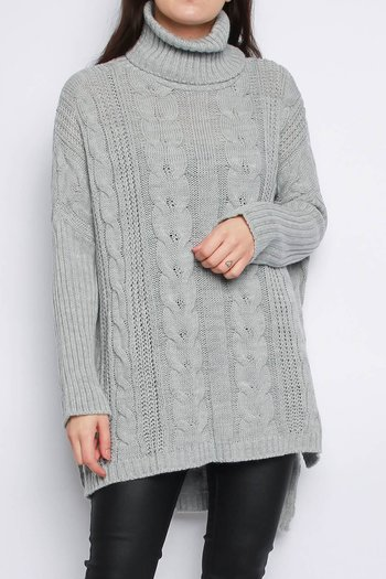 VANJA CABEL KNITTED JUMPER GREY