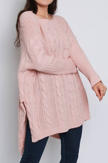 VANJA CABEL KNITTED JUMPER PINK