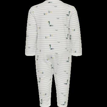 FIXONI - Ljusblå långärmad pyjamas med tryck