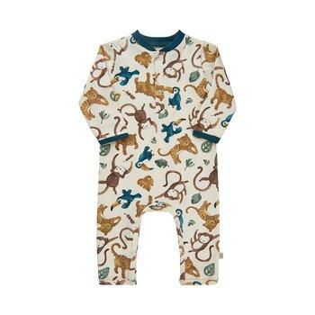 MINYMO - Beige pyjamas med djungeldjur