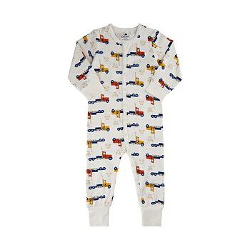 CELAVI - Vit pyjamas mönstrad med lastbil