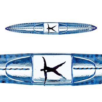 Kosta Boda Drifter Boat Blue