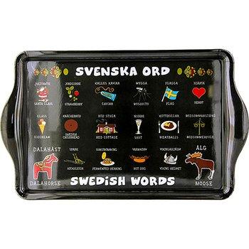 Bricka Svenska Ord 38x23