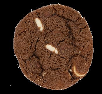 Mörk deg med vitchoklad & mjölkchoklad