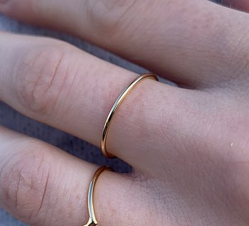 SILVERRING PLAIN ROUND GOLD
