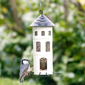 Hängande fågelmatare - Kombimatare för nötter, frön eller talgbollar och äpplen.