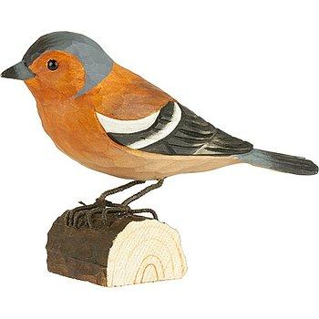 Handsnidade fåglar i trä