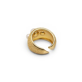 Pearl bubble ring stl 18,5 gold