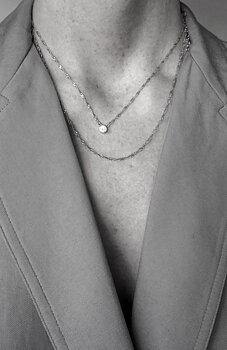 Cubic single neck 40-45 cm silver