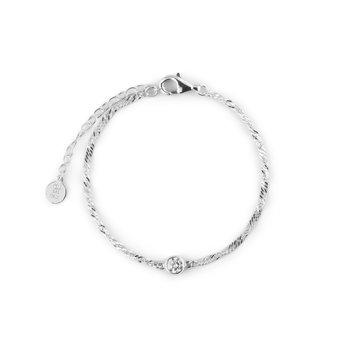 Cubic single brace silver