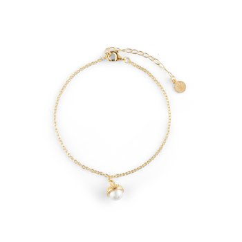 Pearl bubble brace gold