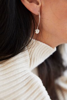 Pearl bubble long ear silver