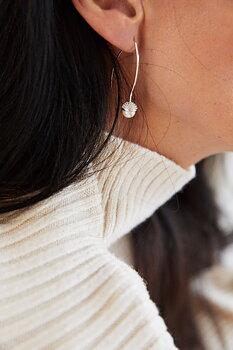 Pearl bubble long ear silver