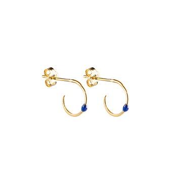 Letters beaded ear blue gold