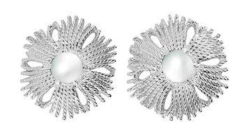 Gatsby big pearl ear silver