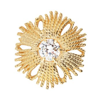 Gatsby big stone ring gold