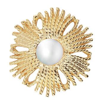 Gatsby big pearl ring gold