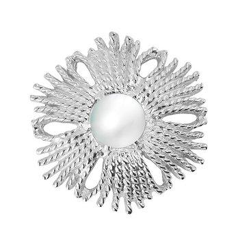 Gatsby pearl brosch/pendant silver