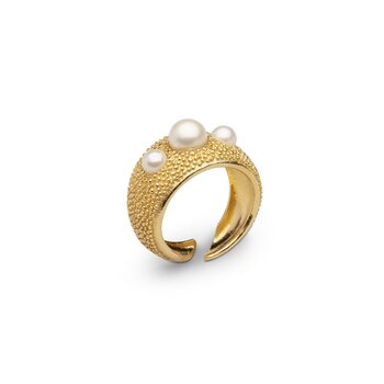 Pearl bubble ring stl 16,5 gold