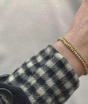 Cubic elastic brace plain gold