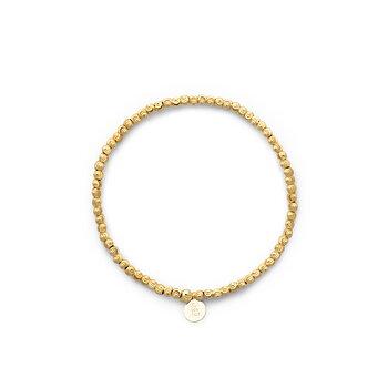 Cubic elastic brace plain stl 16 gold