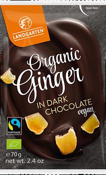 Chokladdoppad Ingefära 50g Land Eko