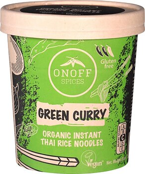 Nudlar Instant Grön Curry 75g Onoff Eko