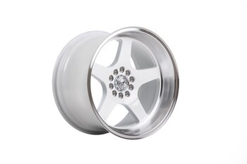 "59°North Wheels D-004 11x18"" ET15 5x114/5x120 white/polished lip"