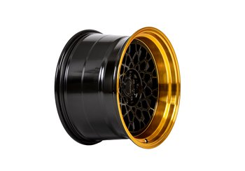 "59°North Wheels D-008 11x18"" ET8 5x114,3/5x120glossblack/hypergold lip"