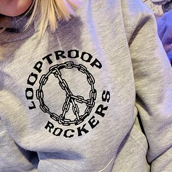 Looptroop Rockers - Peace Kids Hoodie (Heather Grey)