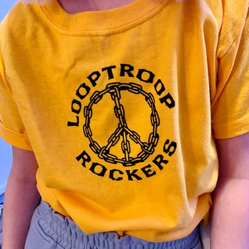 Looptroop Rockers - Peace Kids Tee (Gul)